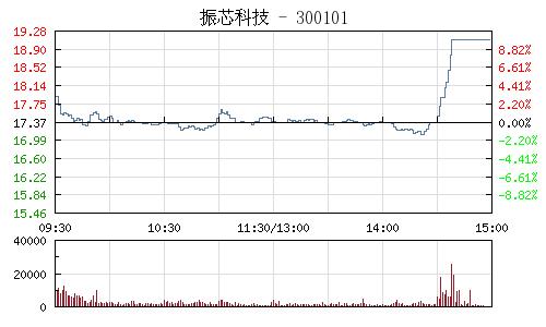 振芯科技(300101)行情走勢圖