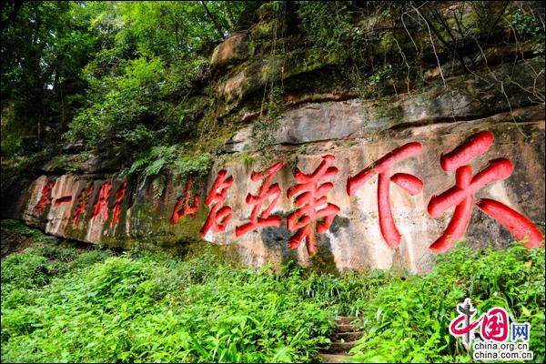 """人间仙境"""",地处亚热带季风性湿润气候的青城山一年四季幽绿翠黛,树木"""