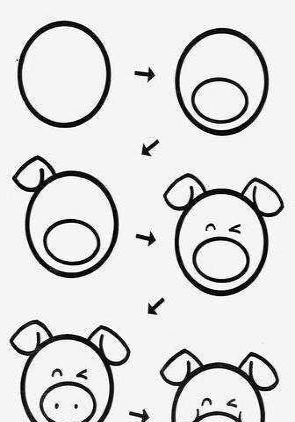 简单而有趣的呆萌动物漫画二图片